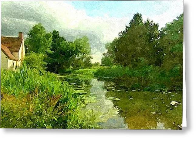 Constable Greeting Cards - Constable Country Greeting Card by Wu Wei