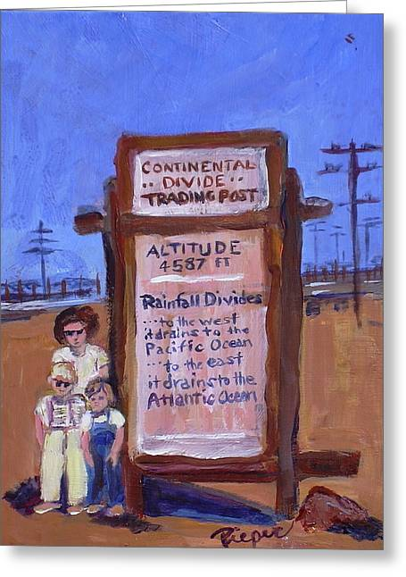Drain Paintings Greeting Cards - Continental Divide Greeting Card by Elzbieta Zemaitis