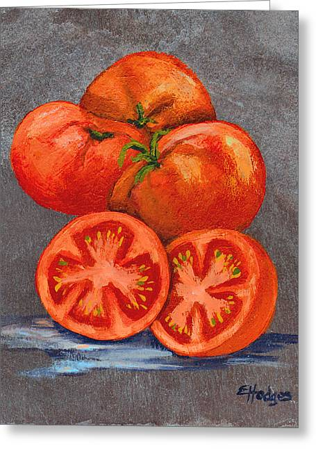 Creole Tomatoes Greeting Card by Elaine Hodges