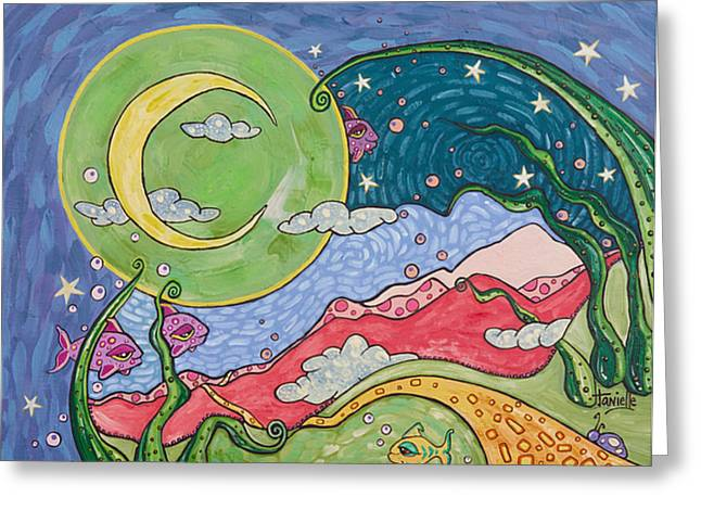 Fantasy World Greeting Cards - Daydreaming Greeting Card by Tanielle Childers