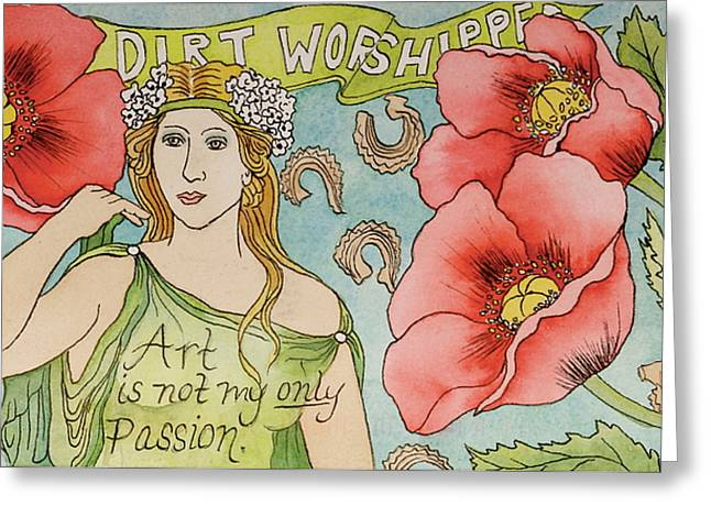 Floral Glass Greeting Cards - Dirt Worshipper Greeting Card by Sheri Howe