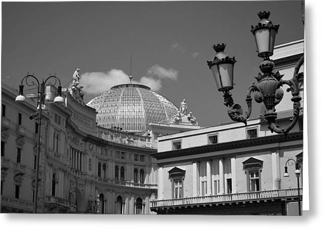 Dome Of Galleria Umberto 1 Greeting Card by Terence Davis