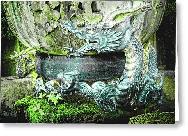 Roberto Alamino Greeting Cards - Dragon Bowl Greeting Card by Roberto Alamino