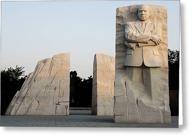 Martin Luther Jr Greeting Cards - Early Morning at the Martin Luther King Jr Memorial - Washington DC Greeting Card by Brendan Reals