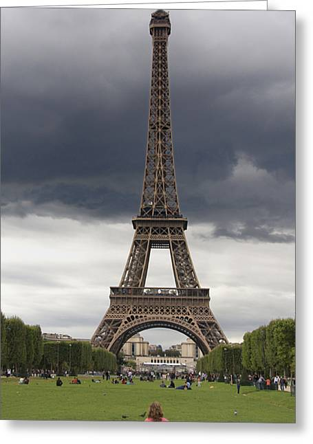 Touristic Greeting Cards - Eiffel tower. Paris Greeting Card by Bernard Jaubert