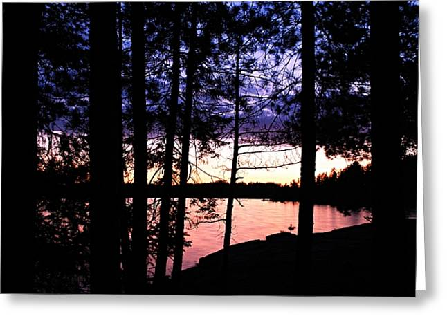Evening On Chad Lake Greeting Card by Larry Ricker