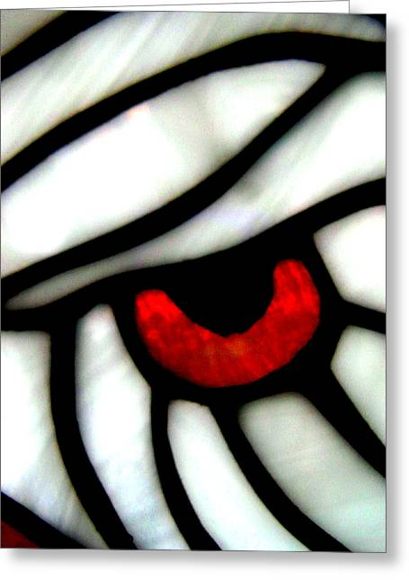 Stainglass Greeting Cards - Eye Of An Eagle Greeting Card by Allen n Lehman