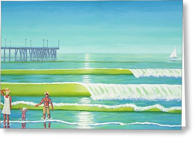 Frank Ocean Greeting Cards - Family Values Venice Style Greeting Card by Frank Strasser