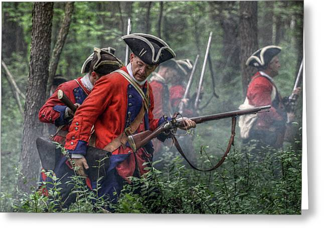 Fight In The Forest Bushy Run 1763 Greeting Card by Randy Steele
