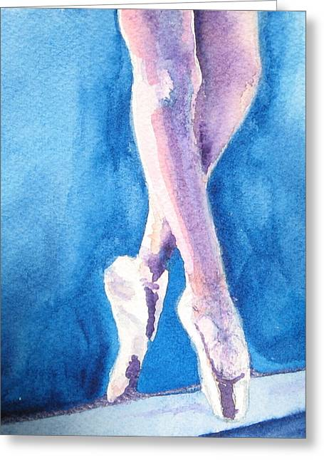 Ballet Bar Greeting Cards - Finding Balance Through Grace Greeting Card by Laura Bird Miller