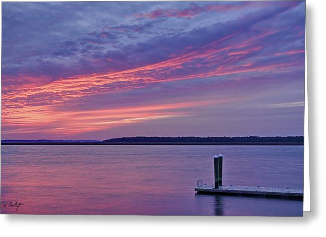 Beaufort County Greeting Cards - Floating Dock Greeting Card by Phill  Doherty