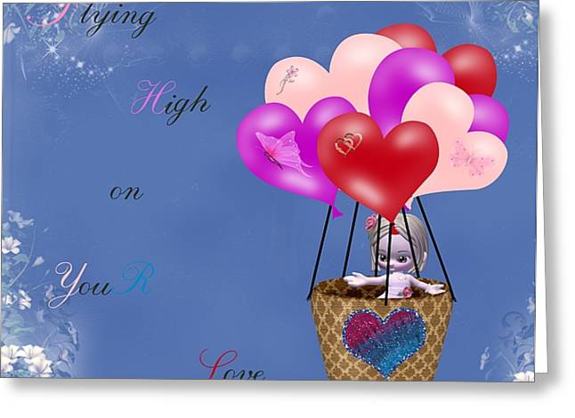 Morning Dew Greeting Cards - Flying High on Your Love Greeting Card by Morning Dew