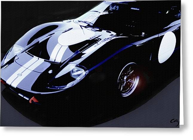 Curt Johnson Greeting Cards - Ford GT40 Nocturne Greeting Card by Curt Johnson