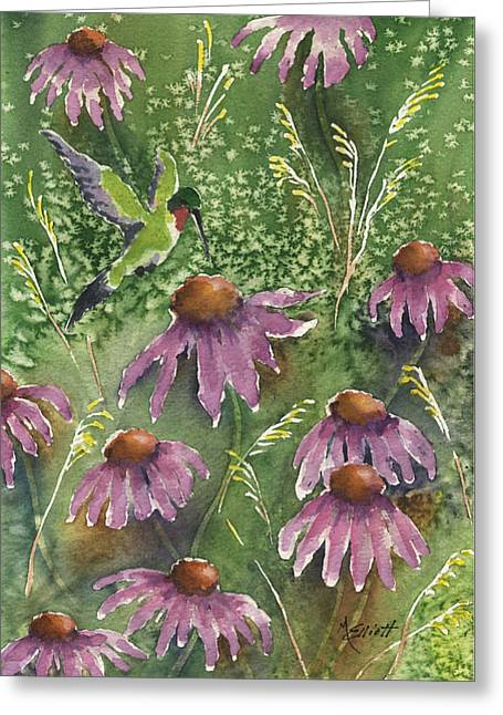 Nectar Greeting Cards - Gathering Nectar Greeting Card by Marsha Elliott