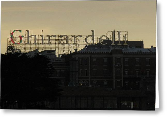 Ghirardelli Chocolate Factory Greeting Cards - Ghirardelli Square at Sunset San Francisco Greeting Card by Harry Mason