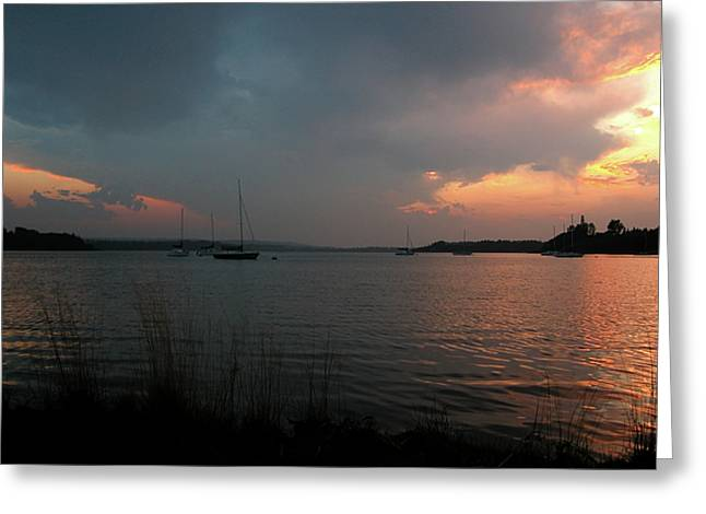 Glenmore Reservoir - Sunset 3 Greeting Cards - Glenmore reservoir - Sunset 3 Greeting Card by Stuart Turnbull