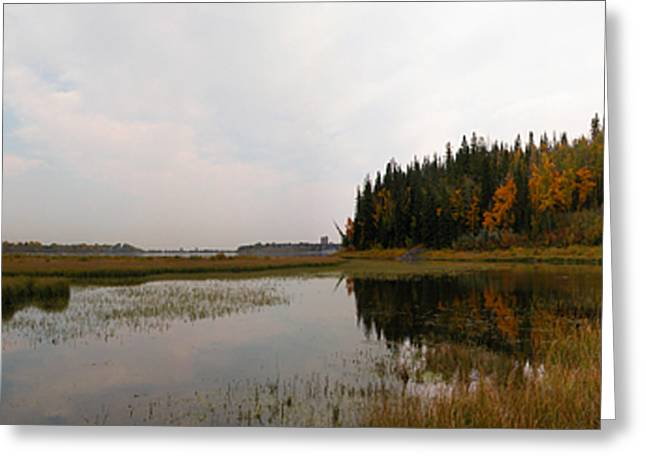 Glenmore Reservoir Greeting Cards - Glenmore reservoir pano 2 Greeting Card by Stuart Turnbull