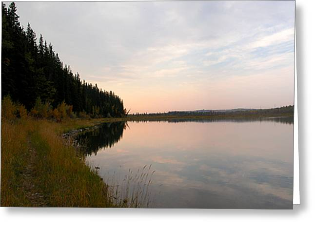 Glenmore Reservoir Greeting Cards - Glenmore reservoir pano 3 Greeting Card by Stuart Turnbull