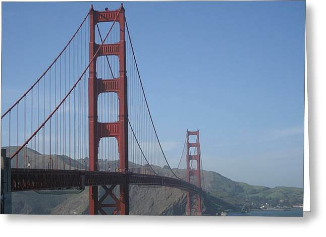 Sight Seeing San Francisco Greeting Cards - Golden Gate Greeting Card by Ariadne Sandbeck