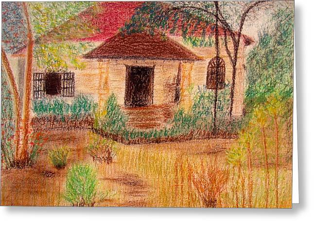 Fineart Pastels Greeting Cards - Gone Away Greeting Card by Errol DSouza