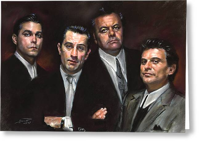 American Pastels Greeting Cards - Goodfellas Greeting Card by Ylli Haruni