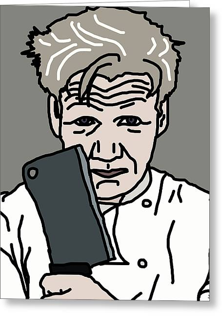 Football Words Greeting Cards - Gordon Ramsay Greeting Card by Jera Sky