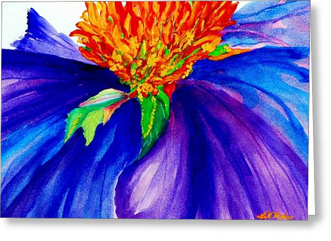 Abstracted Coneflowers Paintings Greeting Cards - Graceful Curves Greeting Card by Lil Taylor