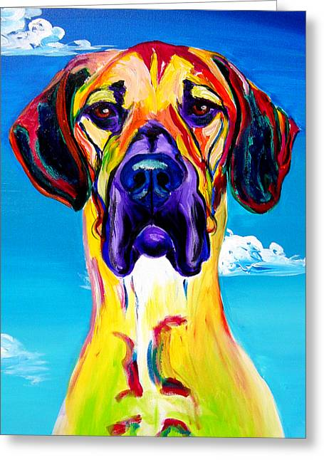 Dog Prints Greeting Cards - Great Dane - Philosopher Greeting Card by Alicia VanNoy Call
