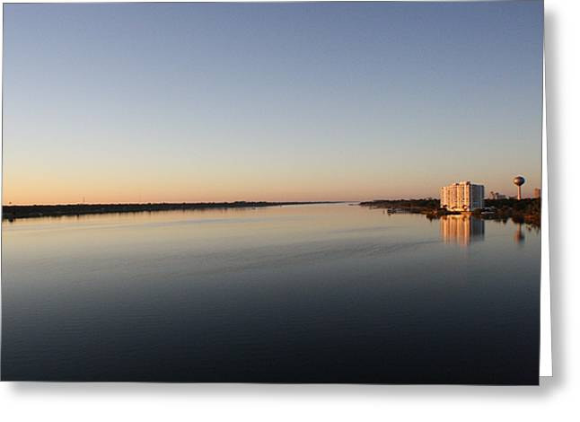Halifax Greeting Cards - Halifax River Sunset Greeting Card by Mandy Shupp