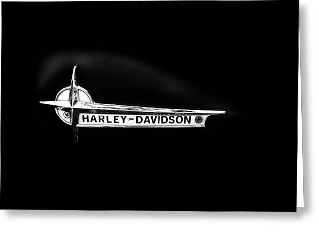 Harley Davidson Greeting Cards - Harley Black Tank Greeting Card by Mark Rogan