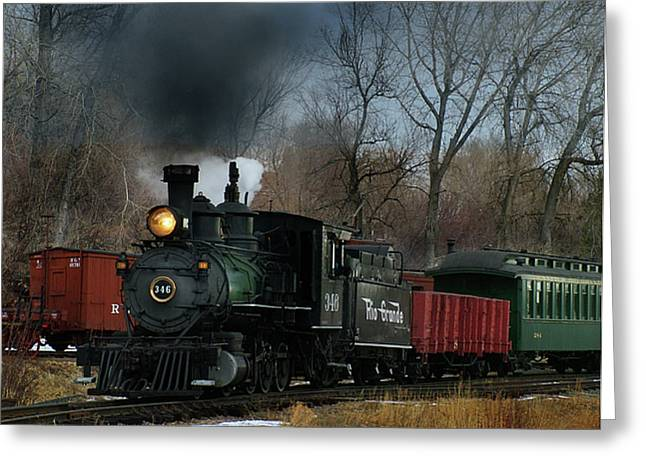 Colorado Railroad Museum Greeting Cards - Here She Comes Greeting Card by Ken Smith