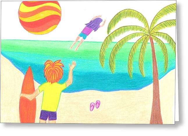 Flying Greeting Cards - Hey You Forgot Your Flip Flops Greeting Card by Geree McDermott
