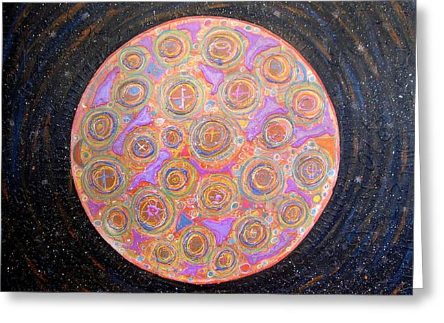 Constellation Mixed Media Greeting Cards - Hidden face of the moon 4th movement Greeting Card by Gregory Theobal