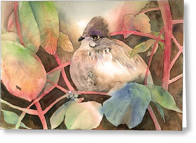Grouse Greeting Cards - Hiding In Plain Sight Greeting Card by Arline Wagner