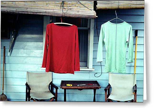 Verandah Greeting Cards - His and Hers Greeting Card by Tim Nichols
