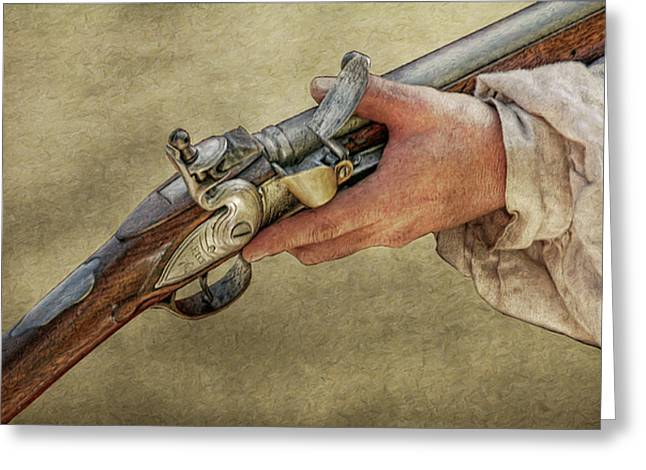 Muzzleloader Greeting Cards - His Flintlock Rifle Greeting Card by Randy Steele