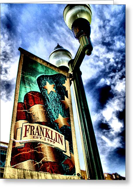 Historic Downtown Franklin Greeting Card by Ione Starr