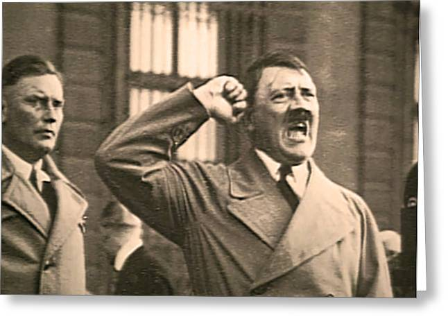 Hitler The Orator Greeting Card by Al Bourassa