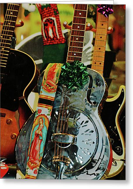 Guitarra Greeting Cards - Holy Guitar Greeting Card by AdSpice Studios