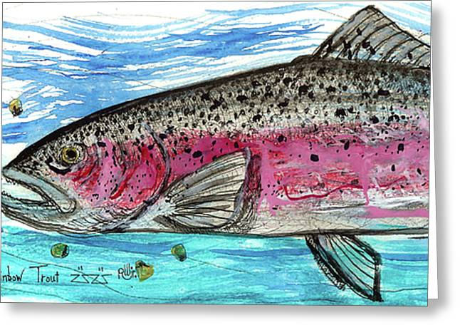 Rainbow Trout Greeting Cards - I Like Corn Greeting Card by Robert Wolverton Jr