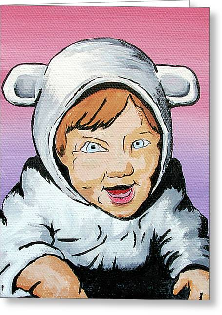My Baby Greeting Cards - In My Animal Suit Greeting Card by Jera Sky