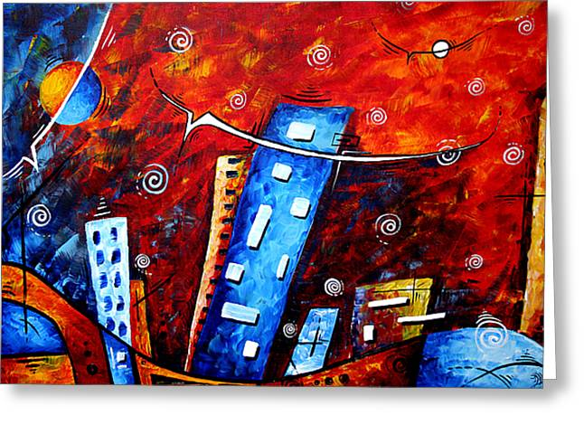 Bold Style Greeting Cards - Inner Sanctuary by MADART Greeting Card by Megan Duncanson