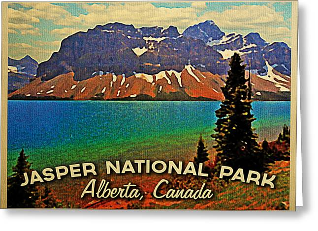 Jasper National Park Canada Greeting Card by Flo Karp
