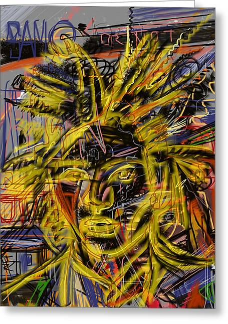 Basquiat Greeting Cards - Jean Michel Greeting Card by Russell Pierce