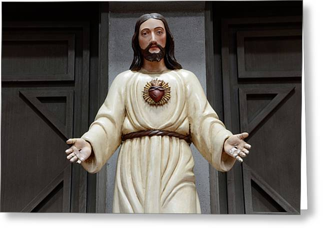 Development Greeting Cards - Jesus Figure Greeting Card by Bob Christopher