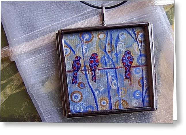 Acrylic Art Jewelry Greeting Cards - Joys of Life Greeting Card by Dana Marie