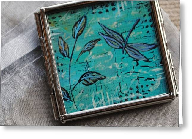 Acrylic Art Jewelry Greeting Cards - Keeping it Simple Greeting Card by Dana Marie