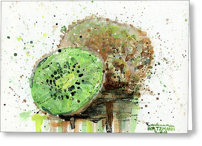 Kiwi 1 Greeting Card by Arleana Holtzmann