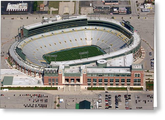 Lambeau Field Greeting Cards - Lambeau Field to West Greeting Card by Bill Lang