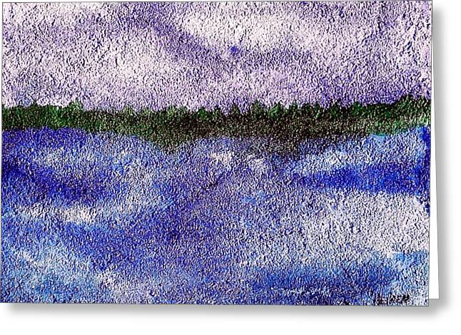 Landscape Posters Mixed Media Greeting Cards - Lavender Land Greeting Card by Marsha Heiken